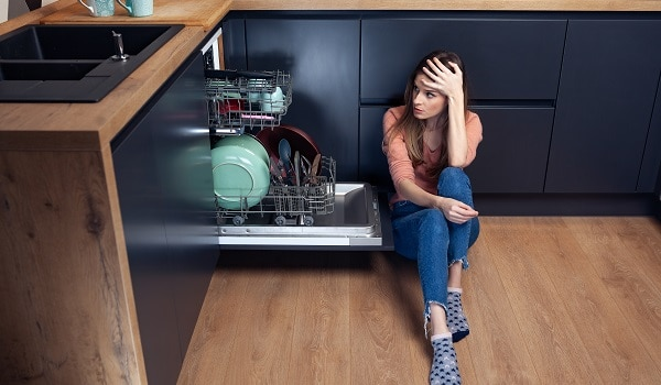 whirlpool dishwasher won't start